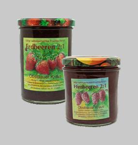 380g Himbeer + 530g Erdbeer Fruchtaufstrich 2:1